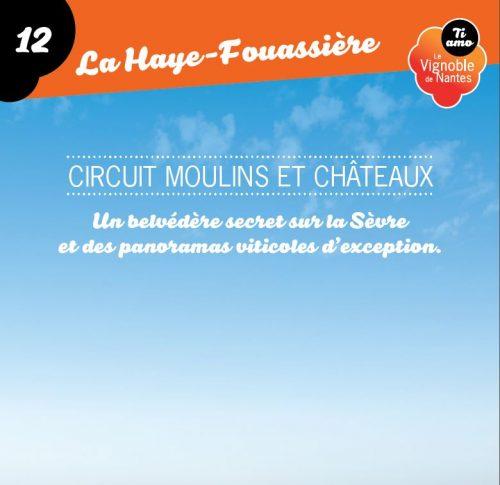 Tarjeta de circuito moulins et châteaux en la Haye Fouassière