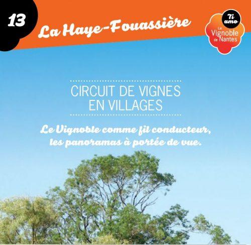 Tarjeta de circuito de vignes en villages en la Haye Fouassière