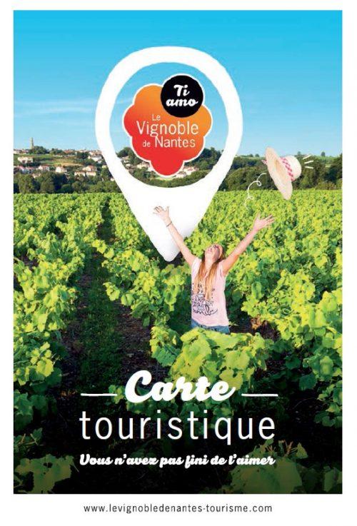 Mapa turístico 2018 del viñedo de Nantes